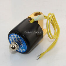 """Quality 2 way 2 position DC Electric Solenoid Valve Water Air Oil Gas 1/4"""" 110V"""
