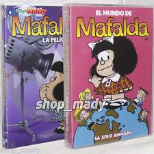 Paq. Mafalda La Serie + Mafalda La Pelicula - DVD en ESPAÑOL LATINO Región 1 y 4