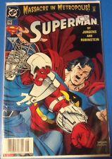 SUPERMAN Aug 2004 DC Dan Jurgens 04 Rubenstein Massacre In Metropolis comic