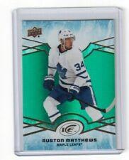 2018-19 Upper Deck Ice Green Parallel Card Auston Matthews Toronto Maple Leafs