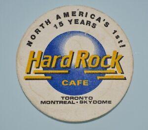 Hard Rock Cafe - 15 Years - Toronto, Montreal, Skydome - Coaster Vintage