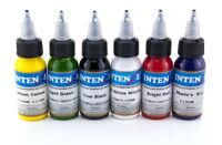 INTENZE Tattoofarben Set, 6in1 je 30 ml SWM, Tattoo Farbe Tätowierfarbe Ink