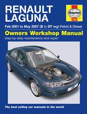 Renault Laguna Mk2 2001-2005 Haynes Workshop Manual 4283 Inc