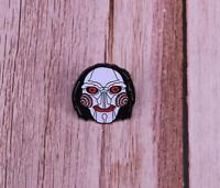Saw Billy Enamel Pin Jigsaw Horror Movie Lapel Pin Halloween Goth Pin