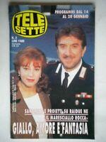 Telesette 1996 proietti e sandrelli,brosca,chiambretti,magalli, baudo, panicucci