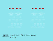 K4 N Decals Lehigh Valley 34 Ft Wood Boxcar White