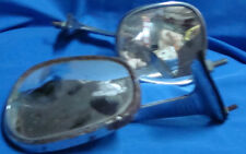 2 old vintage car's side mirrors from India 1960