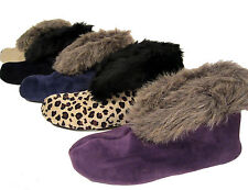 Charter Club plush velvet bootie slippers sz S 5-6 choose color NEW $28