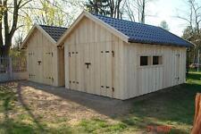 Holzgarage  Satteldach Fertiggarage Carport Gartenhaus 3m x 5m neu  Holz