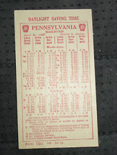 1927 Pennsylvania Railroad Timetable, Daylight Saving Time, Philadelphia