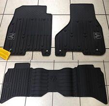 BLACK RUBBER SLUSH FLOOR MATS 2013-2016 RAM 1500 2500 & 3500 CREW CAB BRAND NEW!