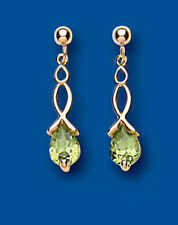 Unique Wishlist 9ct Yellow Gold Peridot Pear Fancy Drops AP6511