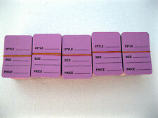 "500 Pcs. 1-1/4"" W X 1-7/8 H Lavender Garment Price Hanging Lables Tags"