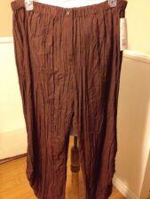 Jean Marc Philippe Women Pants Plus Size 24 Brown
