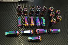 NEO Chrome Titanium JDM LUG NUTS 12X1.25  20 pcs locks key wrx sti impreza