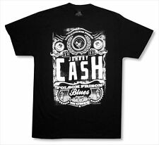 "JOHNNY CASH - ""LIVE AT FOLSOM 1968"" BLACK T-SHIRT - NEW ADULT SMALL S"