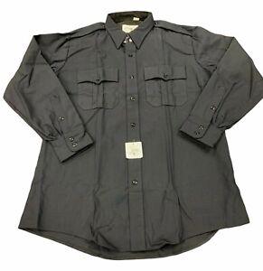 FLYING CROSS Men's Police Shirt Black Tactical Long Sleeve 16.5 34 NEW (47W6686)