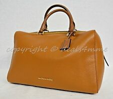 NWT! Michael Kors Kirby Large Leather Satchel/Shoulder Bag in Acorn Brown