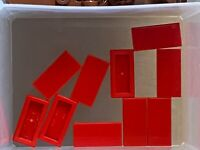 LEGO Parts - Red Tile 1 x 2 w Groove - No 3069b - QTY 10