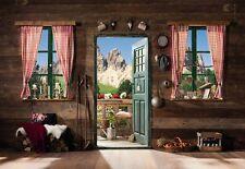 Papel pintado 368x254cm Dormitorio Cuarto De Estar Mural Para Pared Montañas