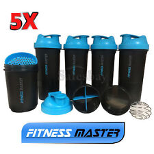 5X 3in1 GYM Protein Supplement Drink Blender Mixer Shaker Shake Ball Bottle Cup