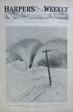 1897 Harper's Weekly Journal Magazine January 16, Bicycle Illustration by Rogers
