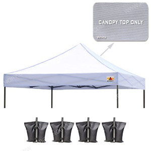 ABCCANOPY Pop Up Canopy 10x10 Canopy Cover 100% Waterproof Choose 18+ Colors ...