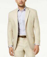 $295 Lauren Ralph Lauren UltraFlex Solid Linen Tan Sport Coat Mens 42L 42 NEW