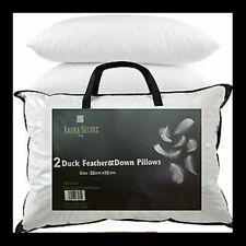 Pack of 2 Luxury Duck Feather & Down Pillow Deep Sleep Extra Filling Pillows