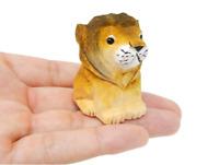Lion Figurine Wood Home Decoration Statue Wall Art Male Mane Big Cat King Feline