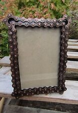 Fair Trade Indian Hand Made Metal Recycled Bike Chain Photo Frame 6 x 4
