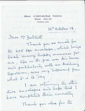 Letter Signed by John Rotherham WW11 Pilot 605 Sqn.