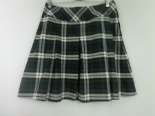 Educational Outfitters Skirt School  9 Green Black White Red Plaid Pleated