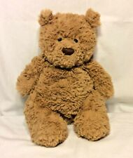 Jellycat BARTHOLOMEW BEAR Shaggy Pudgy Light Brown Plush Teddy 12""