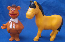 1978 The Muppets Vintage Collectible Figure Lot Fozzy Bear Horse Fisher Price