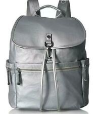 Calvin Klein Florence Large Backpack/Book Bag in Silver Nylon -  NWT
