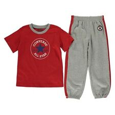 Converse All Star 2 Piece Set T-Shirt / Joggers Infant Boys Grey Red 6-9 Months