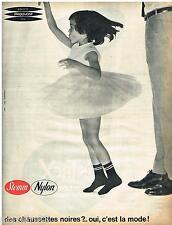 PUBLICITE ADVERTISING 095  1961  STEMM  la chaussettes enfants nylon