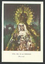 Estampa antigua de la Virgen Macarena andachtsbild santino holy card santini