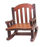 1/12 Scale Dollhouse Miniature Home Decor Wooden Rocking Chair Model Kits
