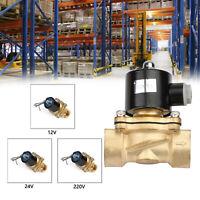 "1"" Brass Electric Solenoid Valve Water Waterproof Normally Closed 12V/24V/220V"