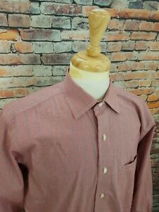 Brooks Brothers 1818 NON-IRON Red Houndstooth Plaid Button Up Dress Shirt 16 33