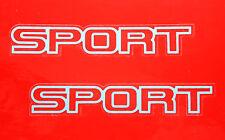 NOS OEM 5CW90MA1 Sport Logo Decal Sticker Emblem Silver PAIR / 84-01 CHEROKEE XJ