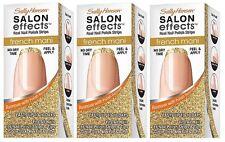 Sally Hansen Salon Effects Real Nail Polish Strips French Mani  Gold Cabaret 1x