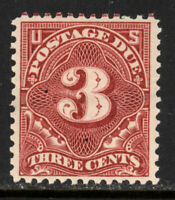 SCOTT J40 1895 3 CENT POSTAGE DUE ISSUE MNH OG VF CAT $225!