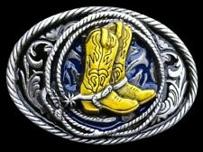 Western Cowboy Cowgirl Boots Belt Buckle Rodeo Rider Boucle de Ceintures