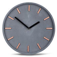 haute qualité beton-uhr Horloge murale en gris cuivre HEURE MODERNE DÉCORATION