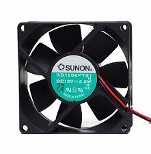 1pc 8x8x2.5cm SUNON DC Fan KD1208PTS1 H DC12V 2.6W 2850RPM 37.5CFM 32.5dBA