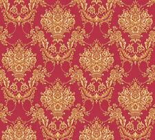 Vlies Tapete Barock Ornament rot gold glanz metallic 34492-2 Chateau 5