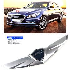 2015-2016 Hyundai Genesis Sedan Hood Upper Grille Wing GENUINE Emblem Logo Mark